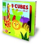 cubes en carton les animaux de la savane
