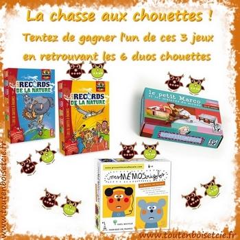 jeu la chasse aux chouettes, remportez un jeu éco-responsable et fabriqué en France