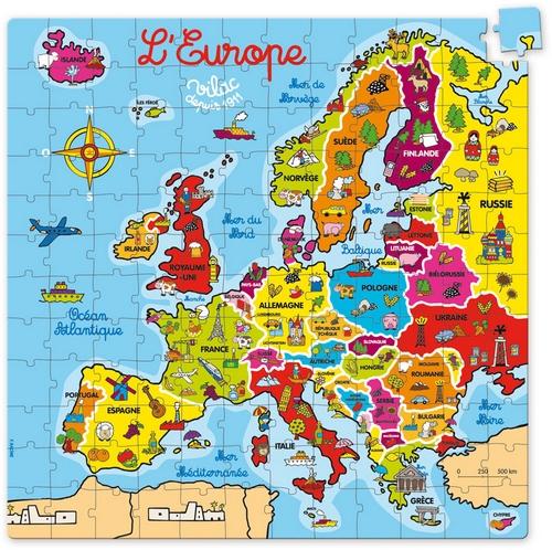 puzzle en bois l`Europe 144 pièces