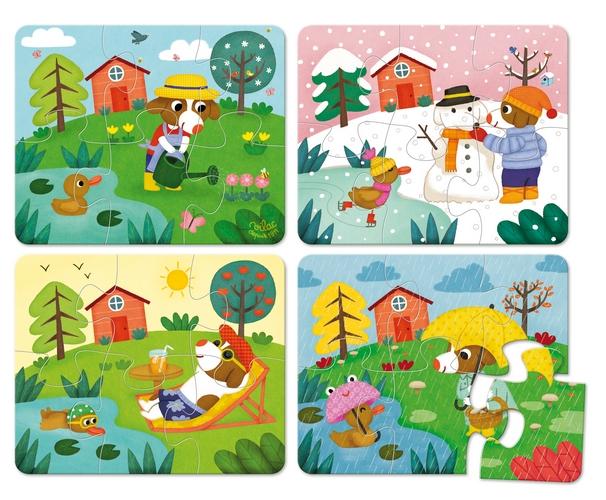 Puzzles les 4 saisons par m lusine allirol boutique www for Le jardin des 4 saisons pusignan